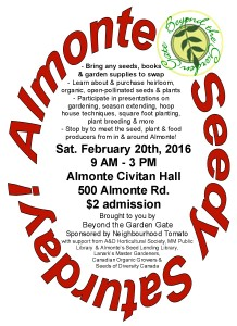 Seedy Saturday @ Almonte Citivan Community Hall | Mississippi Mills | Ontario | Canada